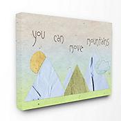 Cuadro Decorativo You Can Move Mountains Collage Azul 41x51