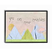 Cuadro Decorativo You Can Move Mountains Collage Rosa 28x36