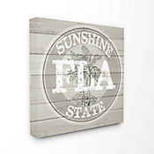Cuadro de Lienzo Florida Sunshine State Medallion 61x61