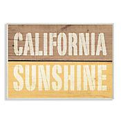 Cuadro Decorativo California Sunshine en Madera 25x38