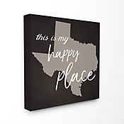 Cuadro Decorativo This Is My Happy Place Texas 43x43