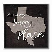 Cuadro Decorativo This Is My Happy Place Texas Enmarcado 31x31