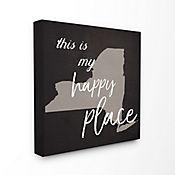 Cuadro de Lienzo This Is My Happy Place Nueva York 43x43