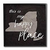 Cuadro de Lienzo This Is My Happy Place Nueva York Enmarcado 31x31