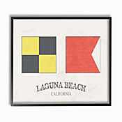 Cuadro en Lienzo Bandera Laguna Beach Enmarcada 28x36