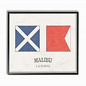 Cuadro en Lienzo Bandera Malibú Enmarcado 28x36
