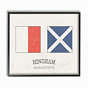 Cuadro en Lienzo Bandera Náutica Hingham Enmarcada 41x51