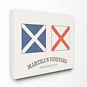 Cuadro en Lienzo Banderas Náuticas Marthas Vineyard 41x51