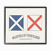 Cuadro Decorativo Banderas Marthas Vineyard Enmarcado 41x51
