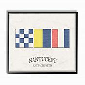 Cuadro en Lienzo Bandera Náutica Nantucket Enmarcada 41x51