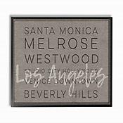 Cuadro en Lienzo Santa Mónica Beverly Hills Enmarcado 41x51