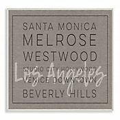 Cuadro en Lienzo Santa Mónica Beverly Hills Placa 25x38