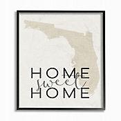 Cuadro en Lienzo Home Sweet Home Florida Enmarcado 28x36