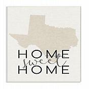 Cuadro en Lienzo Home Sweet Home Texas Placa 25x38
