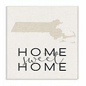 Cuadro en Lienzo Sweet Home Massachusetts Placa 25x38