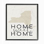 Cuadro en Lienzo Home Sweet Home New York Enmarcado 41x51