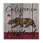 Cuadro en Lienzo California Proud Placa 25x38