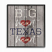 Cuadro en Lienzo Big Texas Heart Enmarcado 28x36