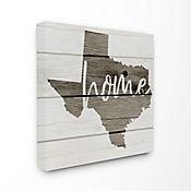 Cuadro en Lienzo Mapa Texas Home 61x61