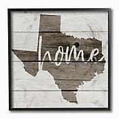 Cuadro en Lienzo Mapa Texas Home Enmarcado 31x31