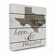 Cuadro en Lienzo Born & Raised Texas 61x76
