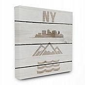 Cuadro en Lienzo Símbolos de New York City 41x51