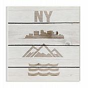 Cuadro en Lienzo Símbolos de New York City Placa 25x38