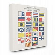 Cuadro en Lienzo Alfabeto Bandera Náutica 61x76