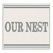 Cuadro en Lienzo Our Nest con Franjas Placa 25x38