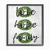 Cuadro en Lienzo Love Hope Family Guirnalda Enmarcado 41x51