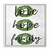 Cuadro en Lienzo Love Hope Family Guirnalda Placa 25x38
