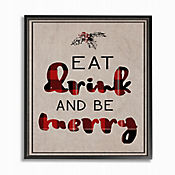 Cuadro en Lienzo Eat Drink And Be Merry Enmarcado 41x51