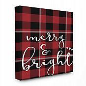 Cuadro en Lienzo Merry & Bright Cuadrados 41x51