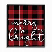 Cuadro en Lienzo Merry & Bright Cuadrados Enmarcado 41x51