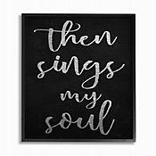 Cuadro en Lienzo Then Sings My Soul Enmarcado 28x36