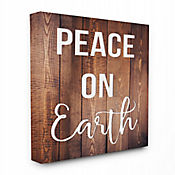 Cuadro en Lienzo Peace On Earth Tipo Madera 61x76