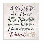 Cuadro en Lienzo A Witch And Her Little Monster Placa 25x38