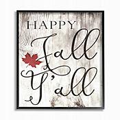 Cuadro en Lienzo Happy Fall Yall Enmarcado 41x51