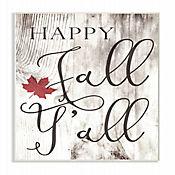 Cuadro en Lienzo Happy Fall Yall Placa 25x38