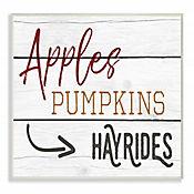 Cuadro en Lienzo Apple Pumpkins Placa 25x38