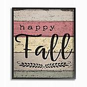 Cuadro en Lienzo Happy Fall Madera Envejecida Enmarcado 28x36