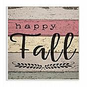Cuadro en Lienzo Happy Fall Madera Envejecida Placa 25x38