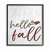 Cuadro en Lienzo Hello Fall con Hojas Enmarcado 28x36