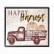 Cuadro en Lienzo Happy Harvest con Calabaza Enmarcado 28x36