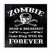 Cuadro en Lienzo Zombie con Calavera Placa 25x38
