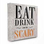 Cuadro en Lienzo Eat Drink And Be Scary 61x76
