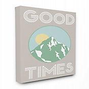 Cuadro en Lienzo Good Times Montaña Verde 41x51