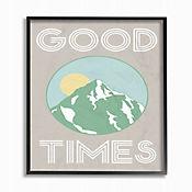 Cuadro en Lienzo Good Times Montaña Verde Enmarcado 41x51
