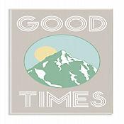 Cuadro en Lienzo Good Times Montaña Verde Placa 25x38