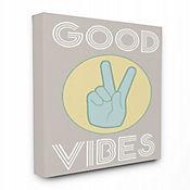 Cuadro en Lienzo Good Vibes Paz 41x51
